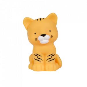 Veioza galbena din PVC cu LED 14 cm Tiger A Little Lovely Company