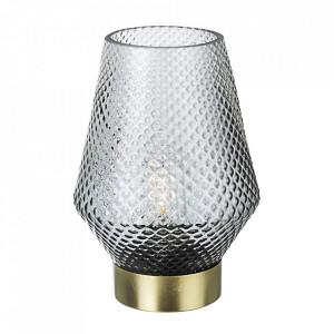 Veioza gri/aurie din sticla si metal 17 cm Mumbai Bizzotto