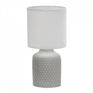 Veioza gri din PVC si ceramica 32 cm Iner Candellux
