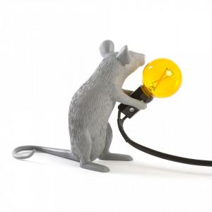 Veioza gri din rasina 14,5 cm Mouse Mac Seletti