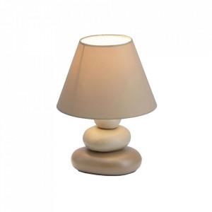 Veioza maro din ceramica si textil 23 cm Paolo Brilliant