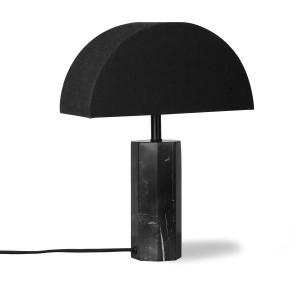 Veioza neagra din marmura 29 cm Lena HK Living
