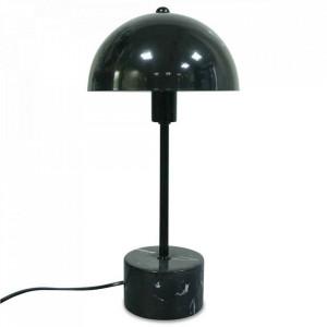 Veioza neagra din metal si marmura 35 cm Axel Opjet Paris