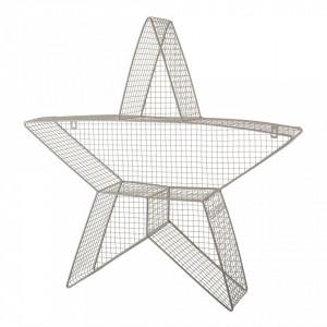 Raft gri din fier Star Display Bloomingville