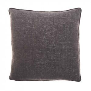 Perna decorativa patrata maro din bumbac 45x45 cm Eris Grey Zago