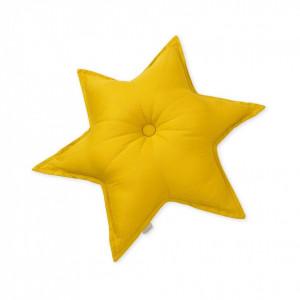 Perna decorativa galbena pentru copii din bumbac 48 cm Abi Mustard Cam Cam