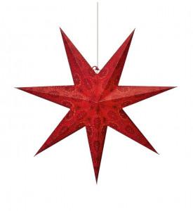 Lustra rosie din plastic si hartie Isadora Red Markslojd