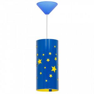 Lustra albastra din metal si plastic Stars Sky Aldex