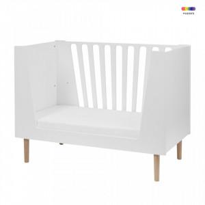 Patut alb din MDF pentru copii 60x120 cm White Done by Deer