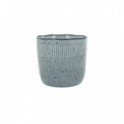 Cana gri din ceramica 8x8 cm Enzo Grey Small LifeStyle Home Collection