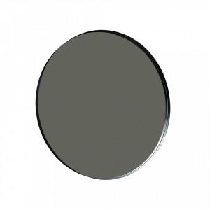 Oglinda rotunda neagra din metal 115 cm Doutzen Woood