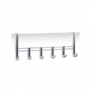 Cuier argintiu din metal pentru usa Door Hanger Chromed Six Zeller