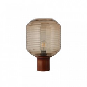 Veioza maro din sticla si lemn 38 cm Honey Frandsen Lighting