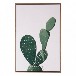 Tablou alb/verde din MDF si polistiren 40x60 cm Cactus Somcasa