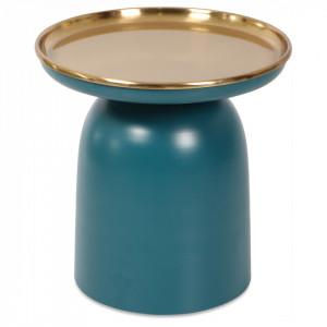 Masuta albastra/aurie din metal 38 cm Sofa End Opjet Paris