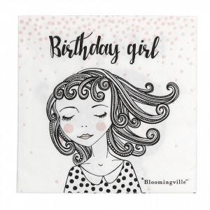 Set 20 servetele 33x33 cm Birthday Girl Bloomingville