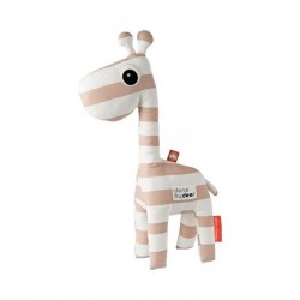 Jucarie roz/alba din bumbac Giraffe Done by Deer