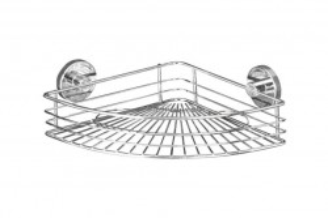 Raft argintiu din inox 31,5 cm pentru baie Vacuum-Loc Corner Bari Wenko