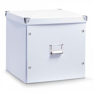 Cutie alba cu capac din carton White Cardboard Zeller