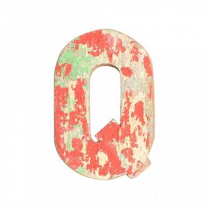 Decoratiune multicolora din lemn 18 cm Q Raw Materials