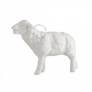 Decoratiune alba din portelan 6 cm Sheep Zangra