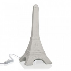 Decoratiune luminoasa alba din portelan Eiffel Tower Versa Home