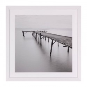 Tablou alb/negru din MDF si polistiren 40x40 cm Pier Somcasa