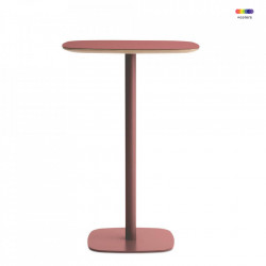 Masa rosie din otel si linoleum 70x70 cm pentru cafea Form Cafe L Normann Copenhagen
