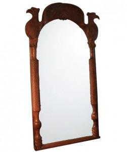Oglinda dreptunghiulara maro din lemn si sticla 124x240 cm Eagle Raw Materials