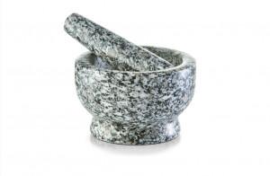 Mojar cu pistil gri din granit Mortar And Pestle Gray Zeller