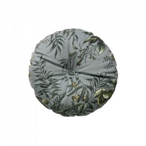 Perna decorativa rotunda multicolora din catifea 45 cm Vogue Poppy Be Pure Home