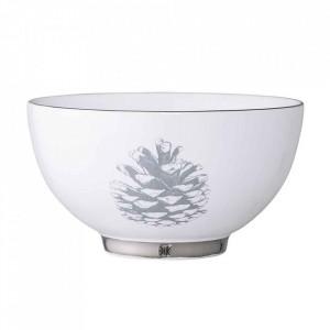 Bol alb din ceramica 600 ml Frost Bloomingville