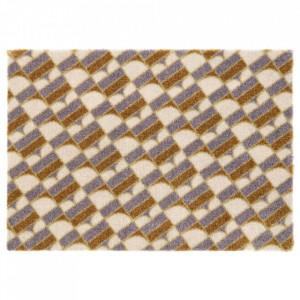 Pres dreptunghiular multicolor din poliamide pentru intrare 50x70 cm Monogram Elle Decor