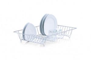 Suport argintiu din metal pentru vase Dish Drainer Zeller