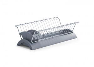 Suport argintiu/gri din metal si plastic pentru vase Dish Rack Grey Zeller