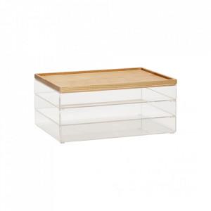 Set 3 cutii din plastic acrilic Peter Hubsch