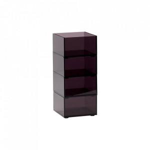 Set 4 cutii din plastic acrilic Kim Hubsch