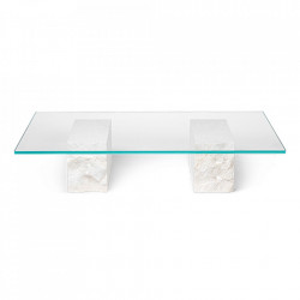 Masuta din sticla si marmura pentru cafea 70x120 cm Mineral Ferm Living