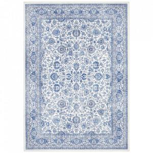 Covor albastru din poliester Imagination Keshan Sapphire Blue Elle Decor (diverse dimensiuni)