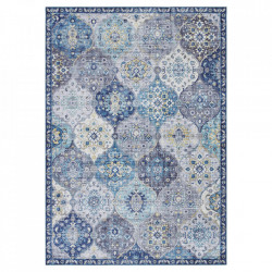 Covor albastru din poliester Imagination Kashmir Denim Blue Elle Decor (diverse dimensiuni)