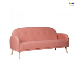 Canapea roz din lemn de pin si poliester pentru 2 persoane Chicago Pink Somcasa