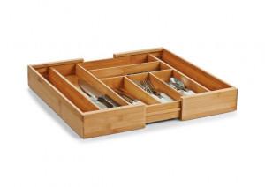 Organizator extensibil maro din lemn pentru tacamuri Cutlery Tray Extendable Zeller