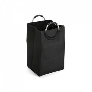 Cos de rufe negru din poliester 46x55 cm Bag Black Versa Home