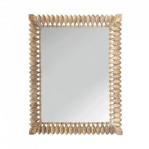 Oglinda dreptunghiulara maro/aurie din lemn 140x180 cm Lara Vical Home