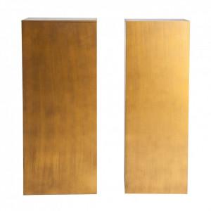 Set 2 masute piedestal aurii din MDF Artesia Vical Home