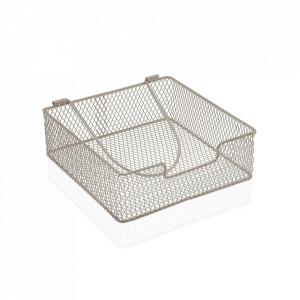 Suport gri din metal pentru servetele Napkin Versa Home