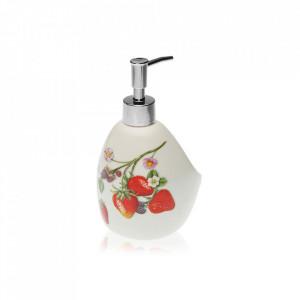 Dispenser sapun lichid multicolor din dolomita 11,3x18 cm Forest Fruits Versa Home