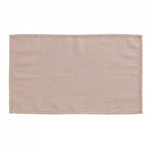 Set 4 protectii masa dreptunghiulare roz din textil 30x50 cm Samay La Forma