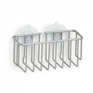 Suport burete argintiu din metal si PVC pentru perete Sponge Bob Big Zeller