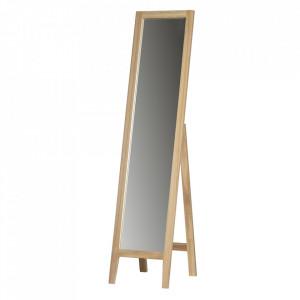 Oglinda dreptunghiulara maro din lemn de podea 45x155 cm Liv Woood